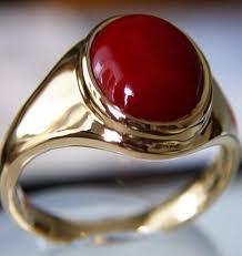 Red Coral (Moonga) Ring